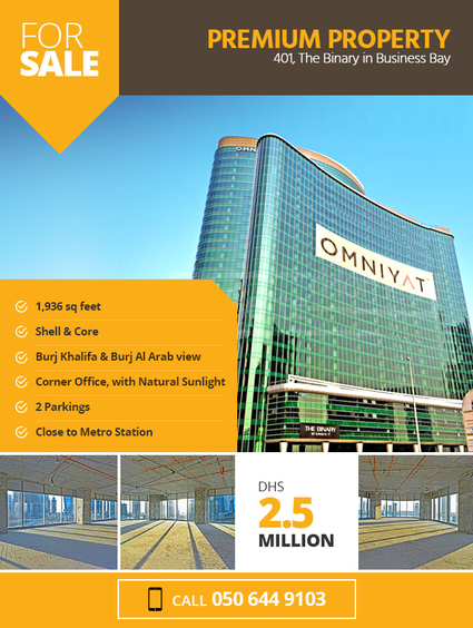 1936 sqft Office Available for Sale in Binary @ Business Bay