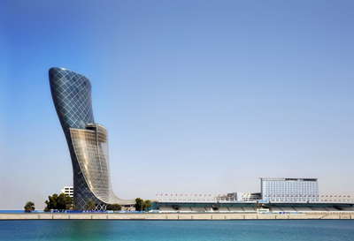 ADNEC's Capital Gate Marina view