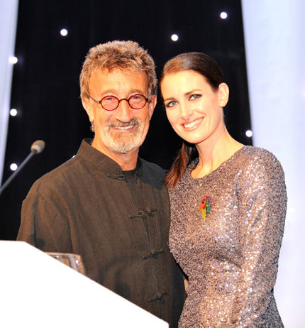 Eddie Jordan and Kirsty Gallacher at the Abu Dhabi Chequered Flag Ball