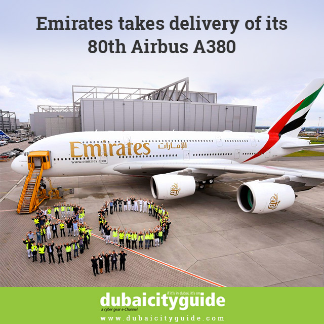 Emirates takes delivery of its 80th Airbus A380