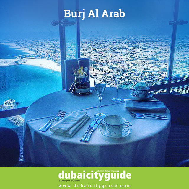 Have your meal with incredible view - Burj Al Arab