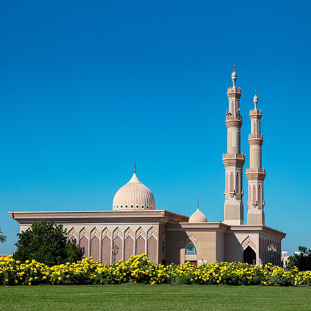 Mosque in the city of Sharjah